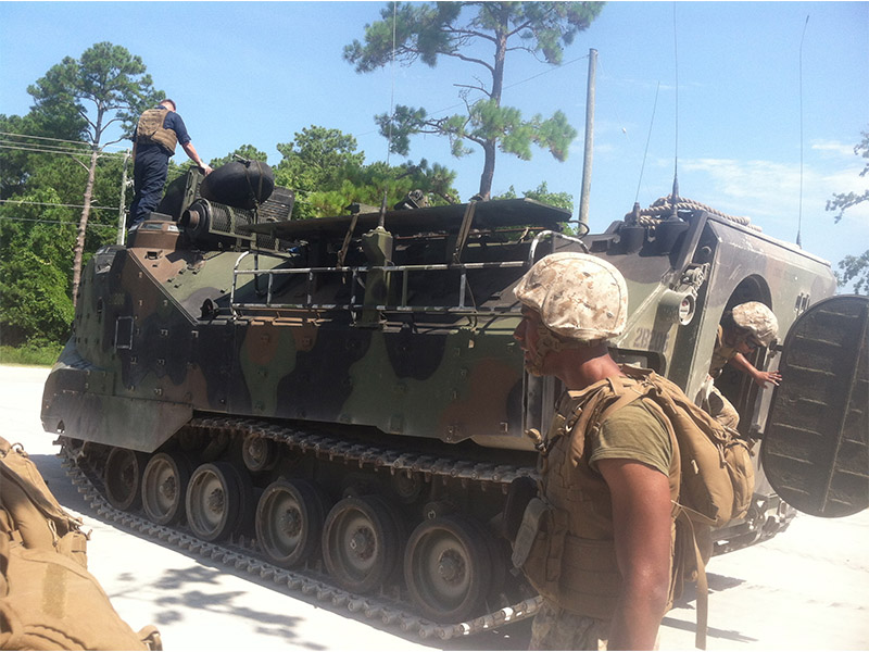 Marine week with an AAV and at the shooting range: